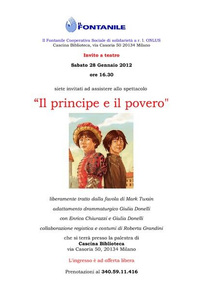 Il principe e il povero. Teatro per bambini
