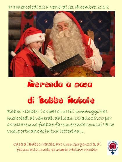 Merenda a casa di Babbo Natale
