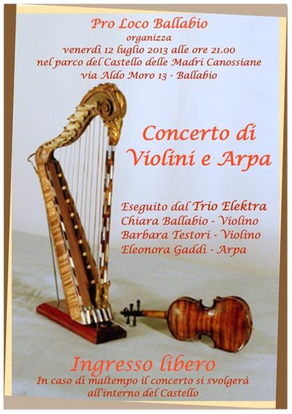 Concerto di Violini e Arpa