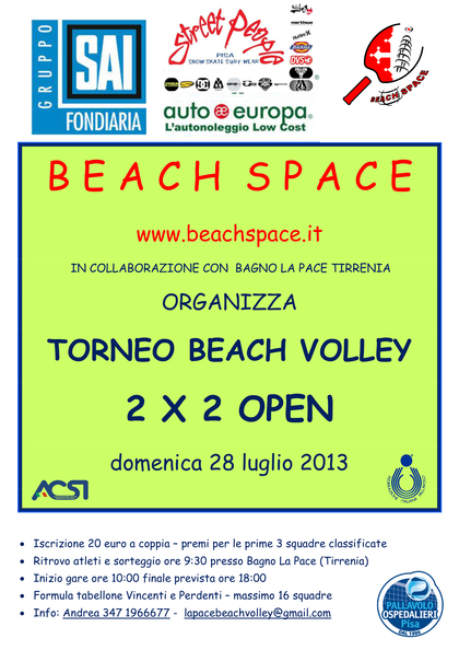 Beach volley al Bagno La Pace