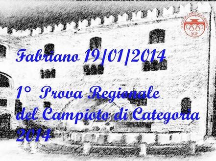 1° Prova Reg.le Categoria 2014