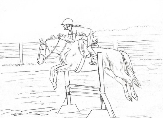 Horse and rider coloring pages