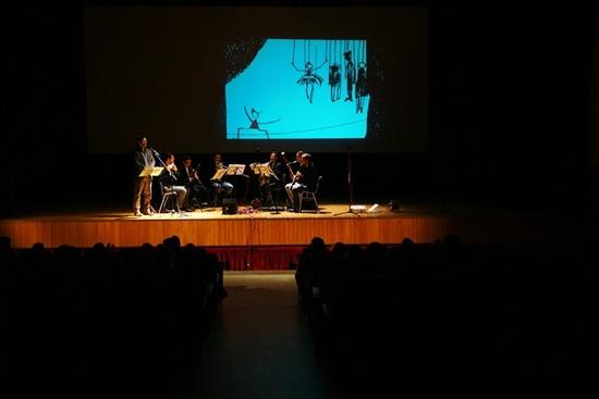 Pinocchio di Pericle Odierna per quintetto di fiati e Voce recitante Teatro Salus 2014