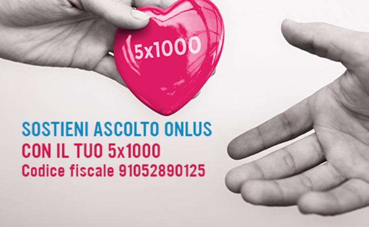 DESTINA IL TUO 5×1000 AD ASCOLTO ONLUS
