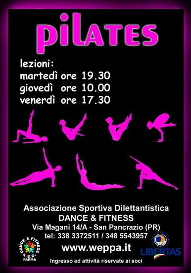 Pilates con Yvette Novak al Pareti Sport Center di San Pancrazio - ASD Dance & Fitness
