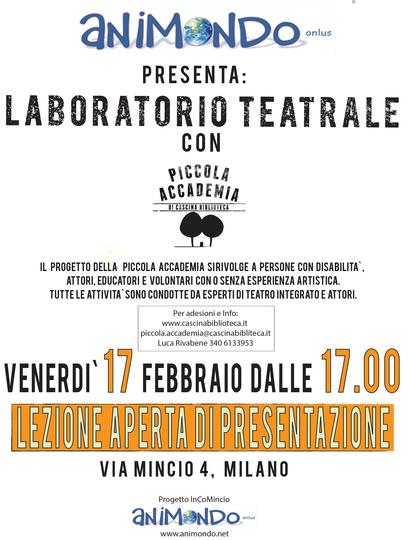 Piccola Accademia – Nuovo laboratorio!