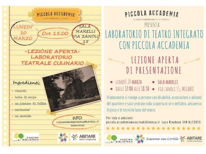 Piccola Accademia – Nuovi laboratori teatrali!