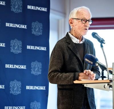 Bent Fabricius Bjerre modtager Den Berlingske Fonds Hæderspris 2016