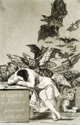 Goya Fornuftens søvn avler uhyrer 1799 3