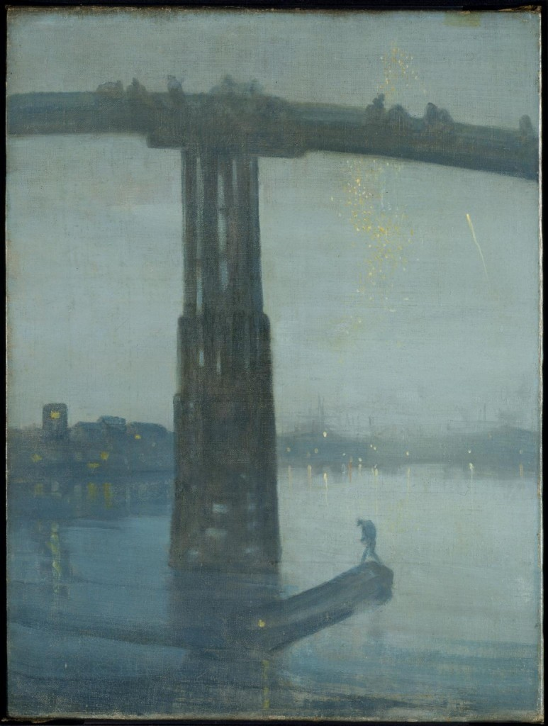 Nocturne: Blue and Gold - Old Battersea Bridge c.1872-5 James Abbott McNeill Whistler 1834-1903 Presented by the Art Fund 1905 http://www.tate.org.uk/art/work/N01959
