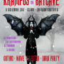 Krampus at the batcave. Gothic, wave, electro, dark party