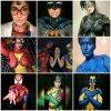 'Bodypainting' de superhéroes con Ana...