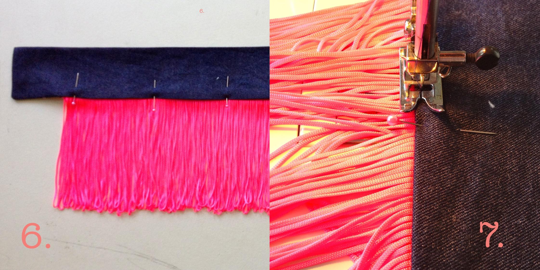 Пояс для платья своими руками с бахромой