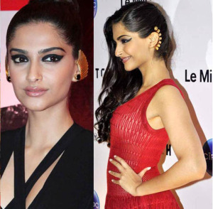 Sonam Kapoor Wearing Ear Cuffs