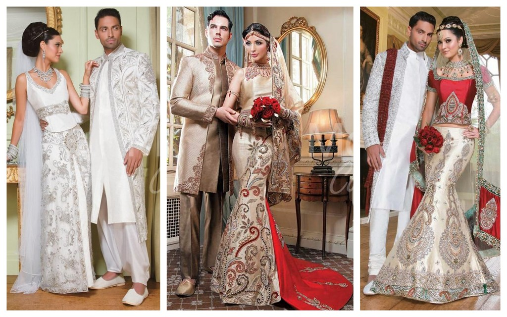 Stylish tip for an asian groom- be color co-ordinated with the brides outfit