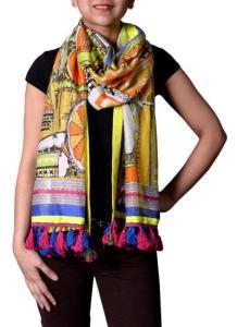 Charu Desi - Vibrant Door Print Scarf