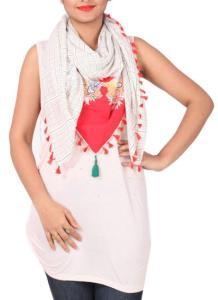 Khyati Sahani - Floral Appliqued Scarf