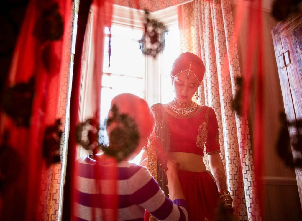 Bride getting ready - Indian Wedding