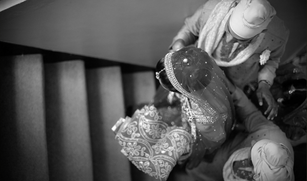 Beautiful black and white bride - Indian Wedding
