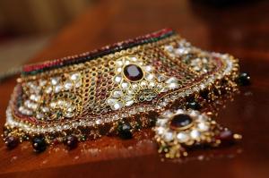 wedding sarees - gold bridal set