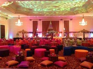Wedding sarees - sangeet party venue