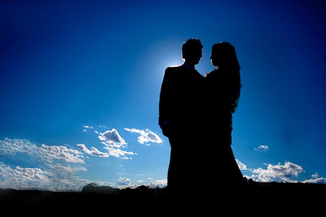 Wedding Silhouette Photography by Monir Ali