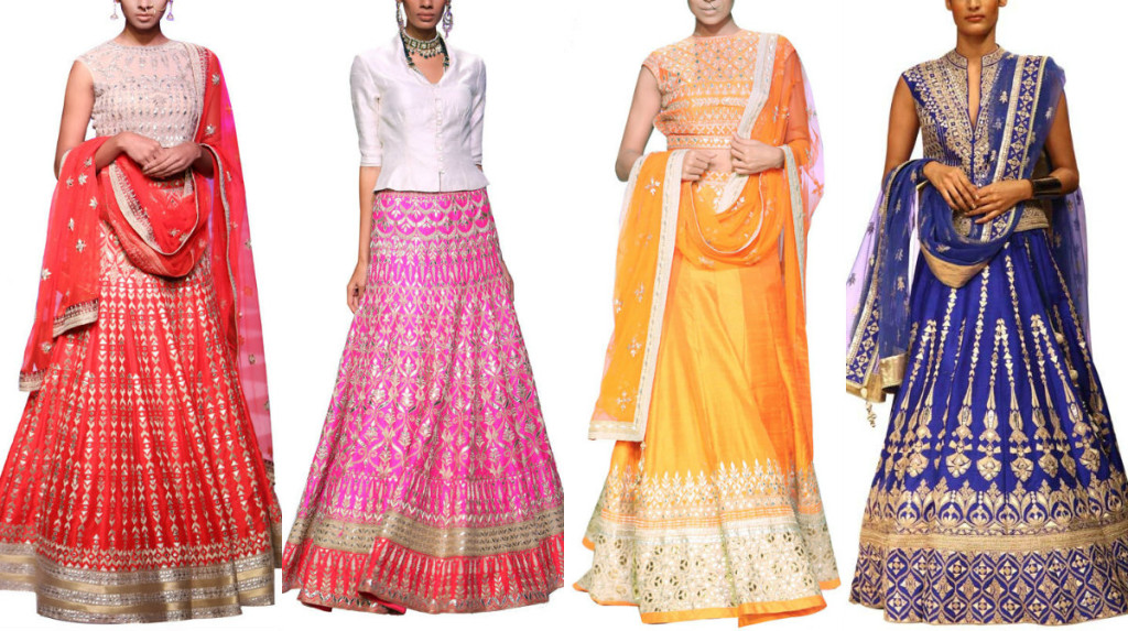 Gorgeous Anita Dongre Lehengas available at Strand of Silk