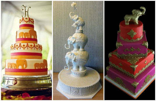 Indian Elephant Cakes | The New Trend of Indian Wedding Cakes