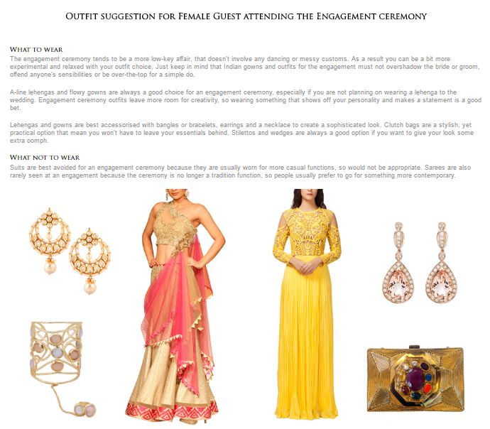 What To Wear | Strand of Silk's Indian Wedding Outfit Generator