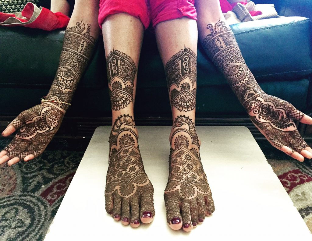Mehendi for the hands and the feet