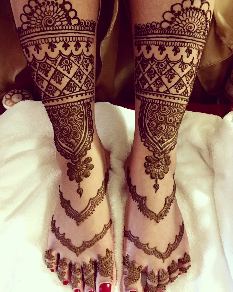 Bridal Mehendi for the Feet