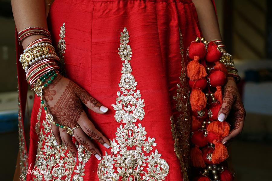 Beautiful Bridal Lehenga in Red