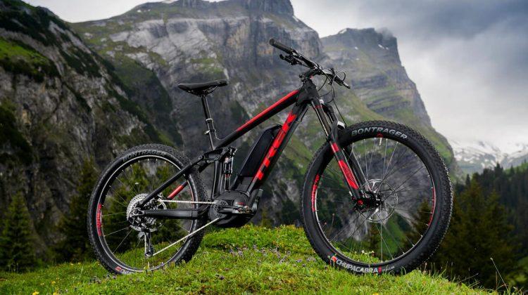 new trek powerfully electronic mountain bike full suspension bike
