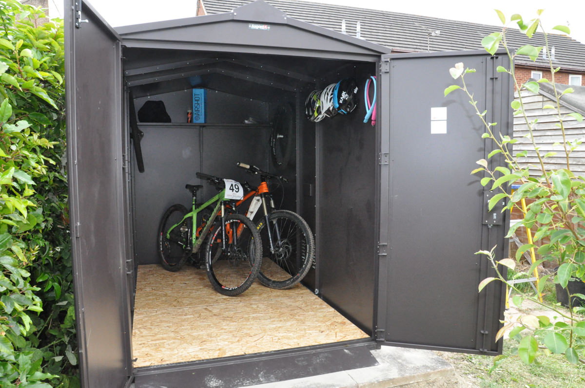 Review Asgard Six Bicycle Metal Storage Shed Bikesoup