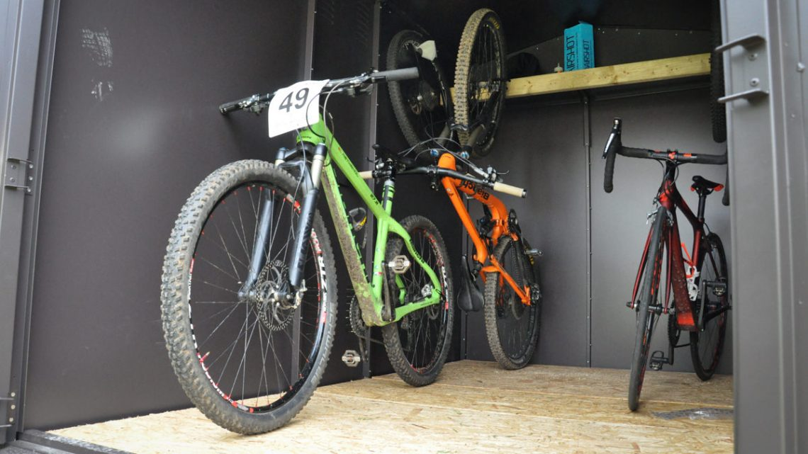 review Asgard six 6 bike bicycle storage shed unit container insured mountain bike 29er
