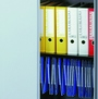 Stationery cupboard dual purpose shelf