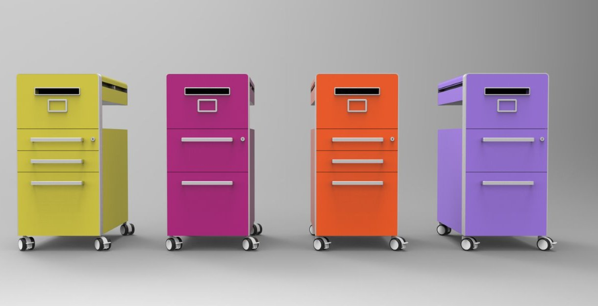 Comfortable Furniture Coloured Metal Filing Cabinets