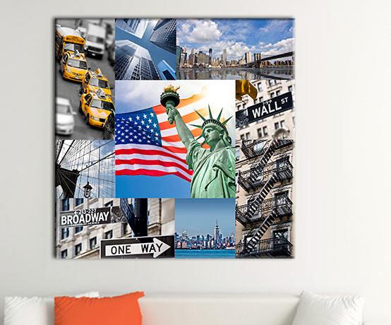 collage stampe su diversi formati