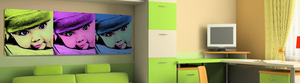 pop art da camera per bambini