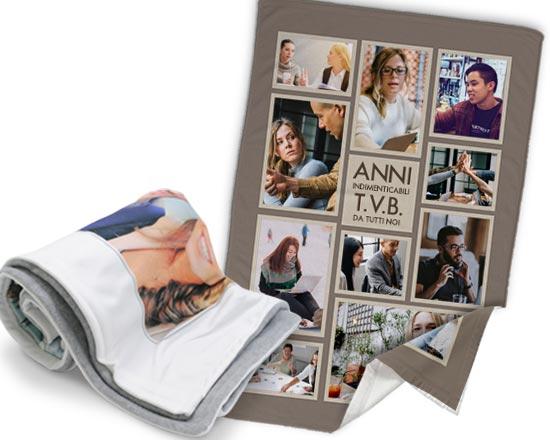 stampa foto colleghi su coperta
