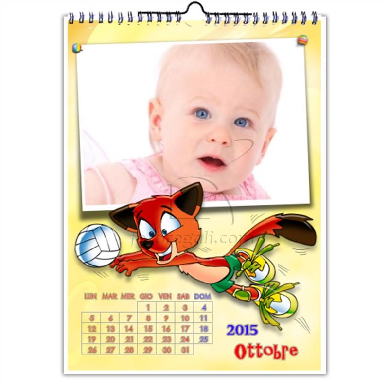 Stampa bambino su Calendario Multipagina
