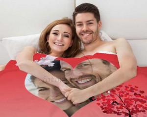 Coperta personalizzata per San Valentino