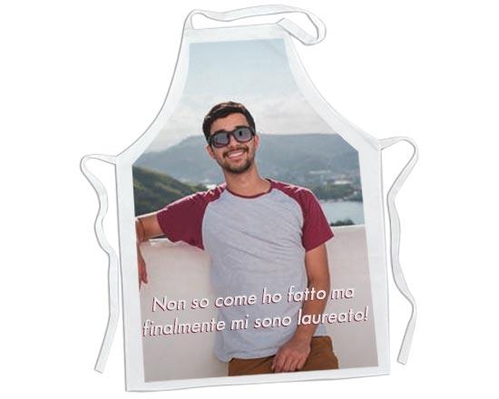 grembiule da cucina per laurea