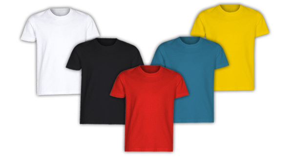 t-shirt-tanti colori da personalizzare