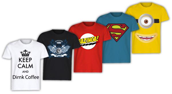 crea t-shirt-personalizzata con tanti temi grafici