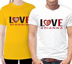 t-shirt e magliette love personalizzate