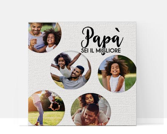 stampa su tela festa del papà