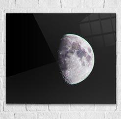 stampa foto eclissi luna su plexiglass