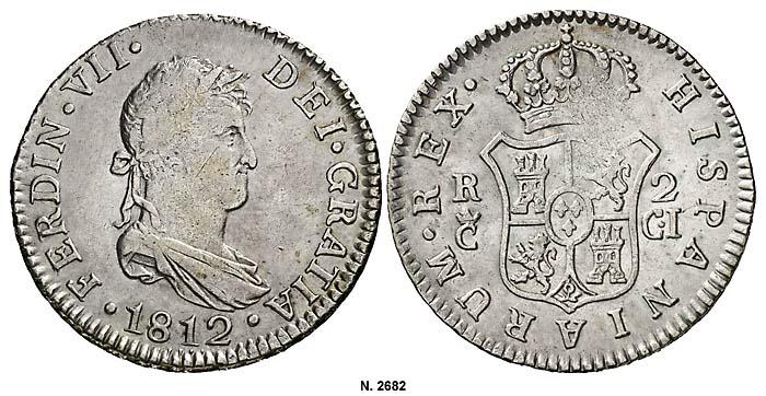 2 reales Cadiz 1812