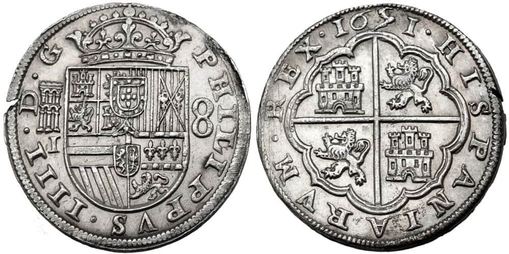 8 reales Segovia 1651